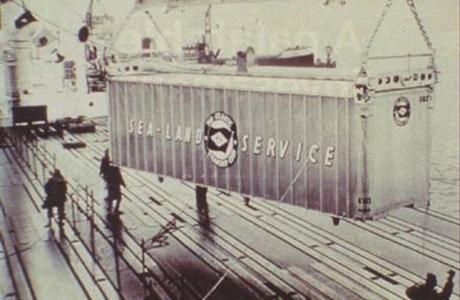 Primer contenedor marítimo